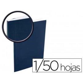 TAPA DE ENCUADERNACION BINDO CAPACIDAD 1/50 HOJAS COLOR AZUL SIN VENTANA KIT SISTEMA ENCUADERNACION SIN MAQUINA
